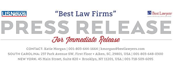 "U.S. News ""Best Law Firms"" Press Release"